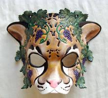 Dionysus Leopard Mask by b3designsllc