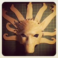 Poseidon Horse Mask WIP by b3designsllc