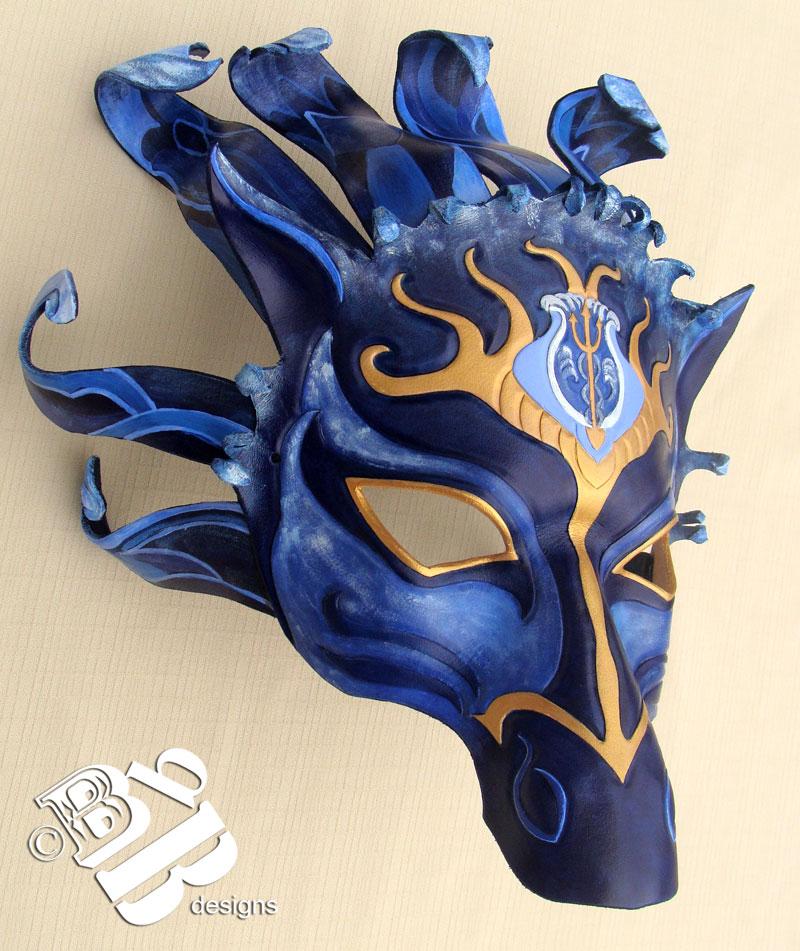 Poseidon Horse Mask by b3designsllc