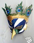 Greek Hera Peacock Leather Mask