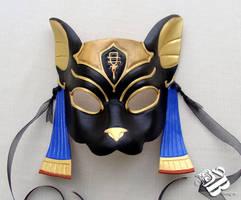 Egyptian Bastet Leather Mask by b3designsllc