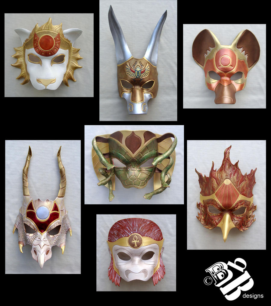 The Gnostic Eden Leather Masks by senorwong