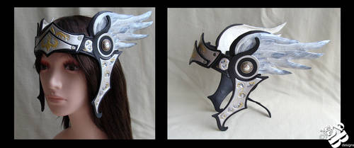Valkyrie Leather Headpiece in black by b3designsllc