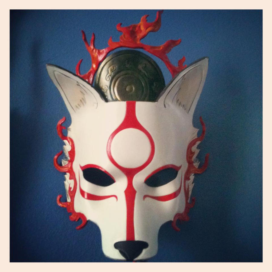Amaterasu Okami Mask by b3designsllc
