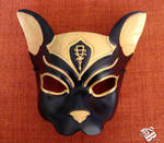 Egyptian Bastet Leather Cat Mask