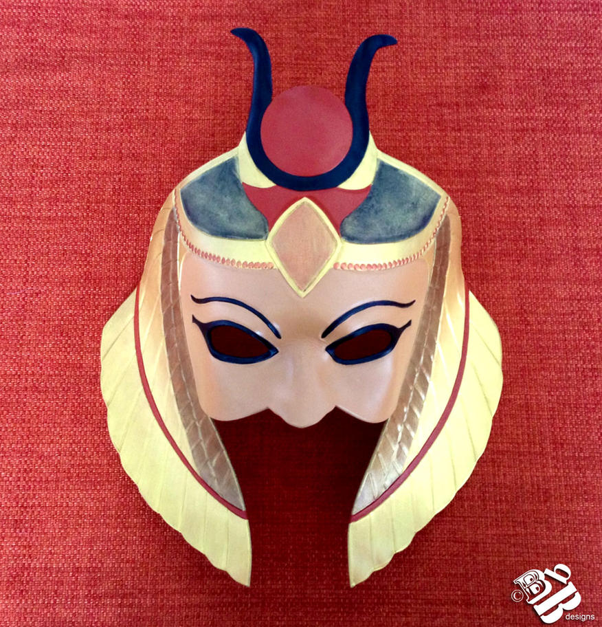 Isis, Egyptian Goddess Leather Mask by b3designsllc
