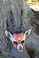 African Gazelle Leather Handmade Mask by b3designsllc