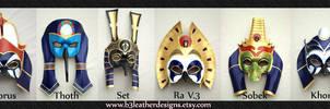 Egyptian Deity Leather Mask Lineup