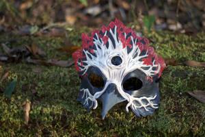 Three-Eyed Weirwood Crow Leather Mask by b3designsllc
