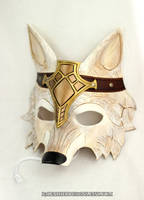 Crowned Barbarian Wolf Handmade Leather Mask by b3designsllc