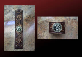 Nordic Inspired Leather Cuff by b3designsllc