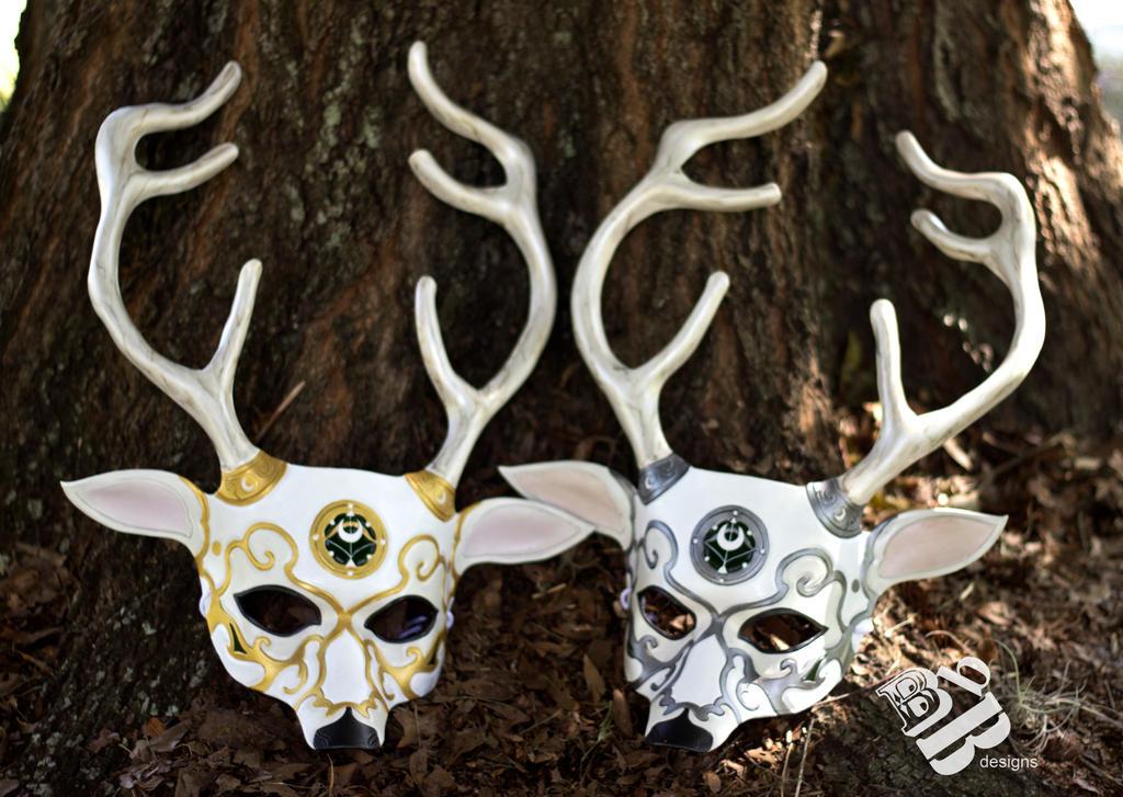 Twin Artemis Leather Masks by senorwong on deviantART