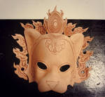 Crowned Leopard Leather Mask WIP