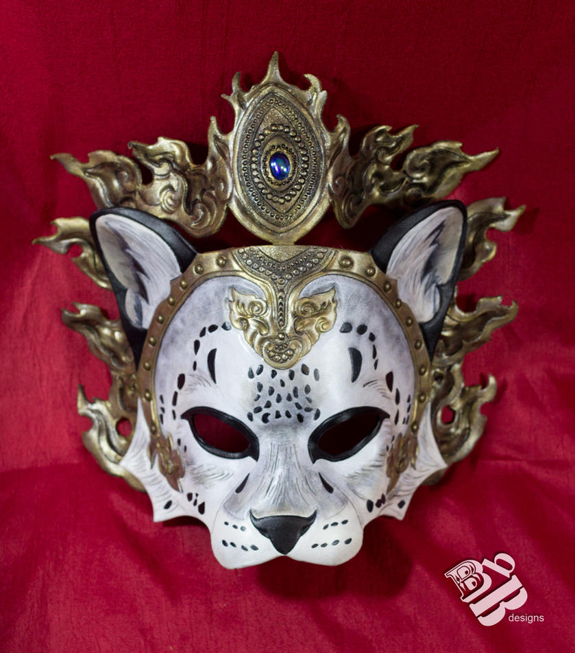 Crowned Snow Leopard Leather Mask by b3designsllc ... & Crowned Snow Leopard Leather Mask by b3designsllc on DeviantArt