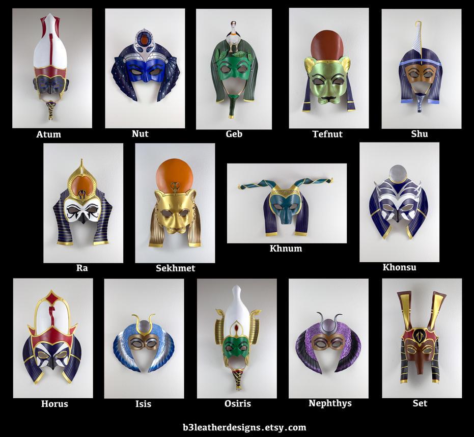 Egyptian Deity Lineup 2 by b3designsllc