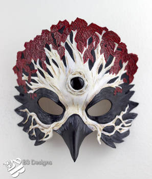 Game of Thrones Three-Eyed Raven Leather Mask #3