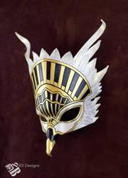 Art Deco Thunderbird Leather Mask by b3designsllc