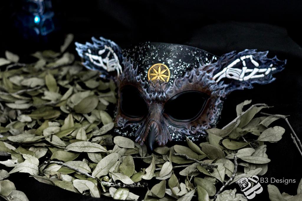 Greek God of The Underworld, Hades - leather mask by b3designsllc
