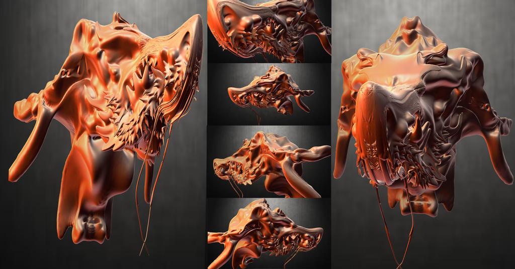 dragonoid 3d collage 2 by aero04 on deviantart. Black Bedroom Furniture Sets. Home Design Ideas
