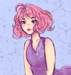 Pink-Haired Girl by maerynarts