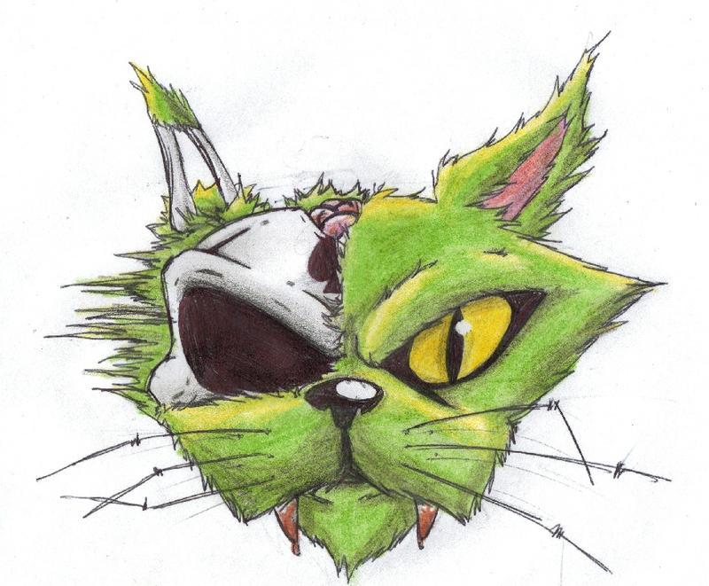 hellcat tattoo scrap 2 by tuton21