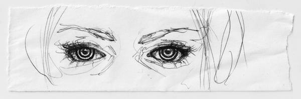 Eyes sketch by Viera8