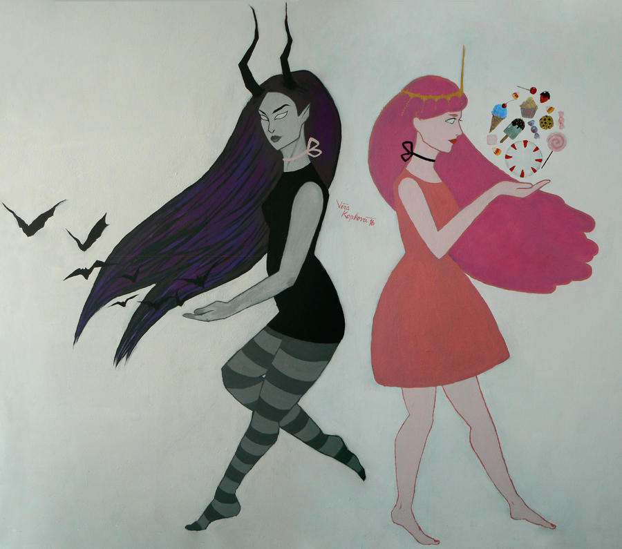 Marceline and Bubblegum Mural by Viera8