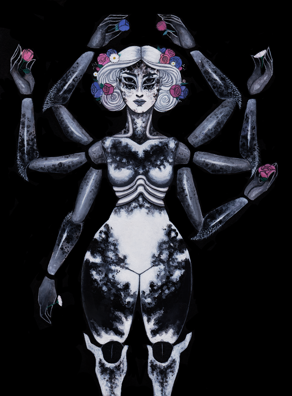 Spider humanoid, 2017 by Viera8