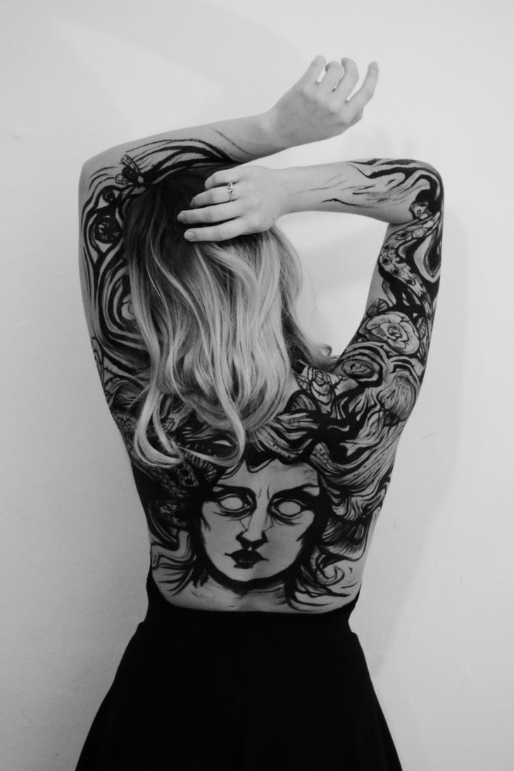 Medusa Bodypainting by Viera8