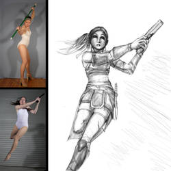 FIGURE DRAWING: FUTURISTIC WARRIOR by TCH717