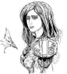 DRAGON SPAULDER: barbarian princess by ARNOLDXYZ
