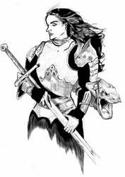 DRAGON SPAULDER: hearted knight by ARNOLDXYZ