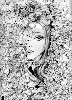 Within the petals