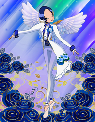Blue Rose Angel Design