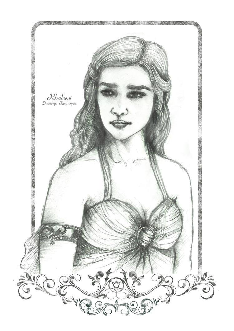 Daenerys Targaryen Frame by HeronArt