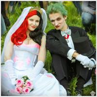 Harley Quinn and Joker [Wedding ver.] by ThePuddins