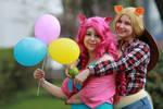 Pinkie Pie and Applejack