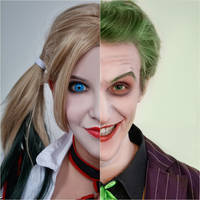 Harley Quinn (Arkham Knight) and Joker 13 by ThePuddins