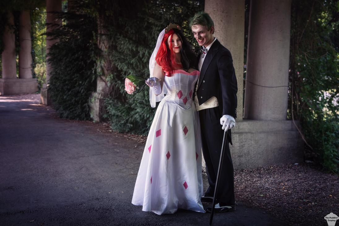 Image result for joker and harley quinn wedding