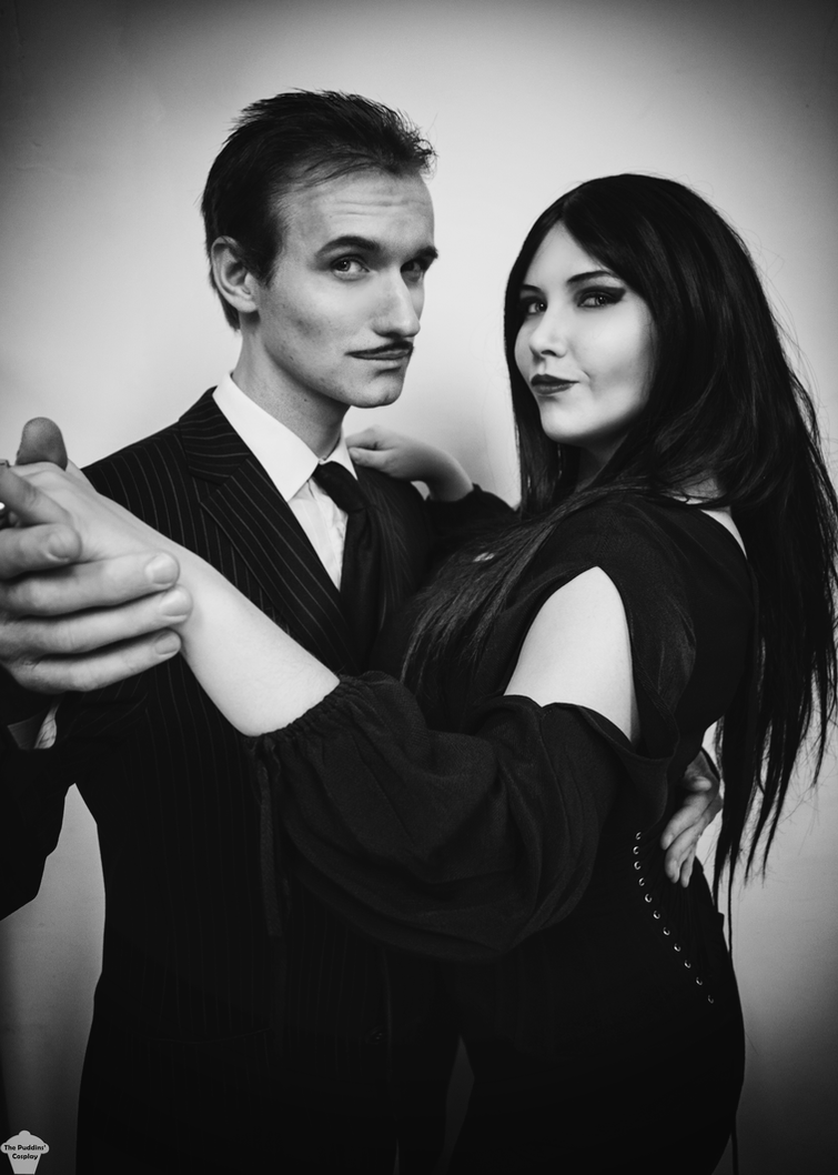 Morticia and Gomez Addams by ThePuddins
