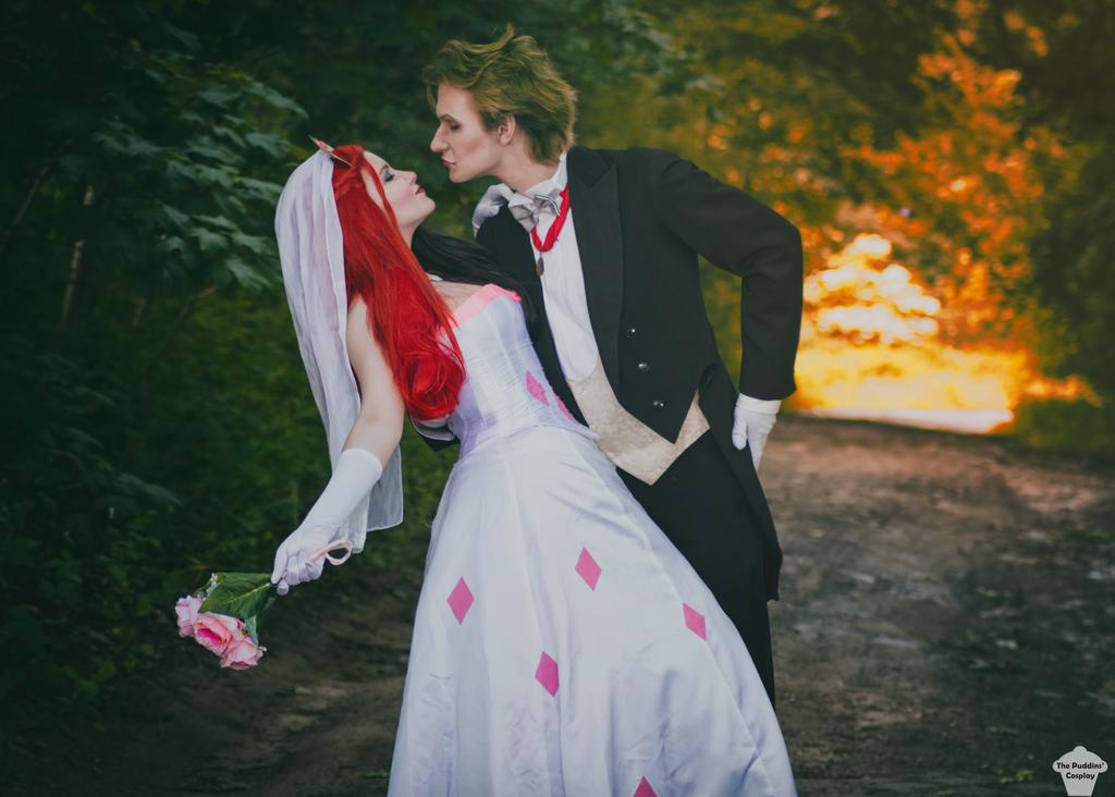 Harley quinn wedding dress cheap
