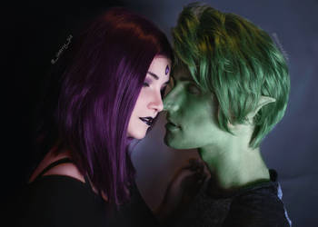 Raven and Beast Boy (casual) 4 by ThePuddins