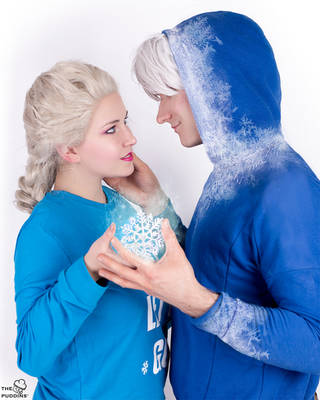 Elsa and Jack Frost by ThePuddins