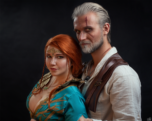 Triss and Geralt by ThePuddins