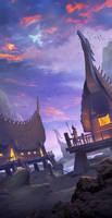 Van Lang fantasyland - Mobile game background