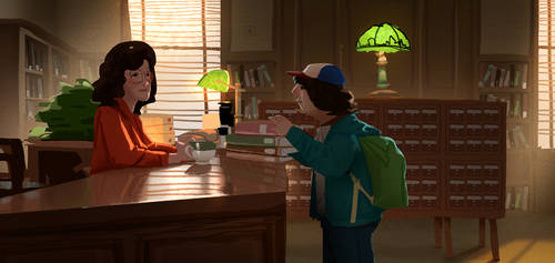 Stranger things season 2 scene study by cloudintrousers