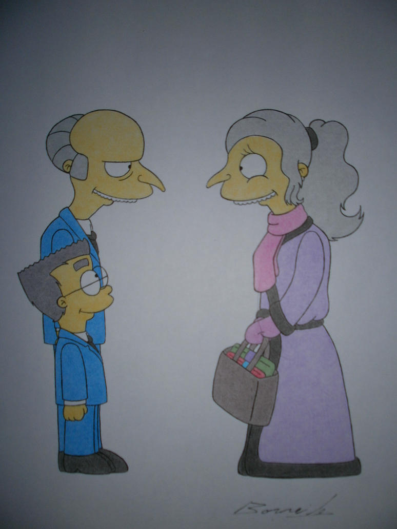 Mr Burns,Smithers and Kathy Burns by Alicetiger