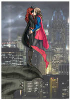 Batwoman and Supergirl (CW Elseworlds) by MillyArt93