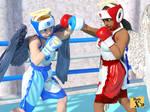 Trina vs Celine - Breaking out of her corner