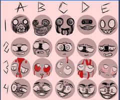 OLD Creepy Expressions Meme by Ghosheart